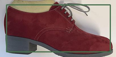 Chaussures orthopédique rouge